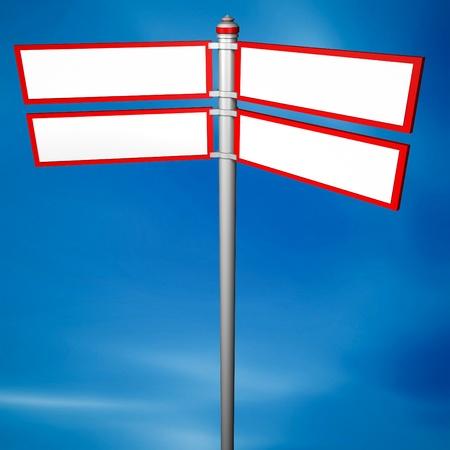 Blank signpost  photo