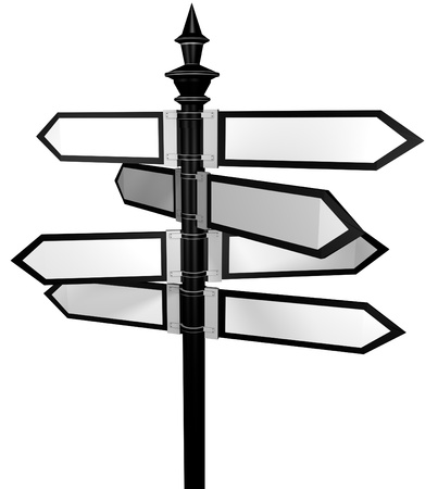 Blank signpost  photo