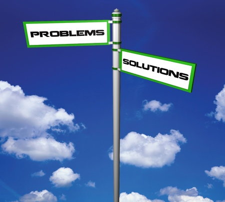 Problems and solutions Signpost photo