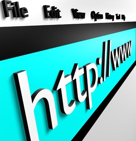 Internet concept Image of address bar Concept of internet browser  Stock Photo - 13365993