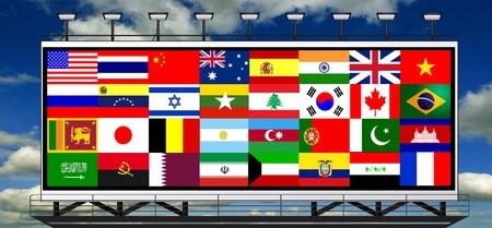 Billboard Staaten der Welt und ihre Flaggen