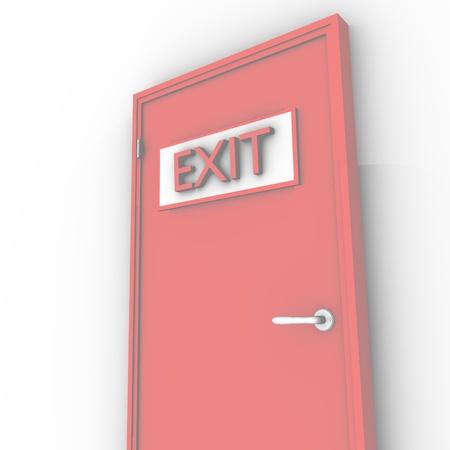 single red door closed Stock Photo - 13366051