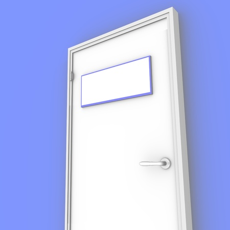 3d white door Stock Photo - 13366043