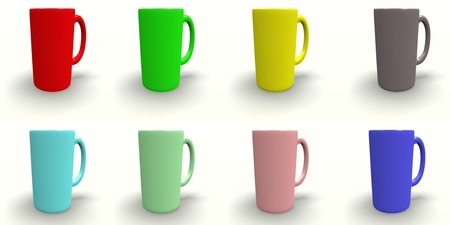 Colorful Coffee Cup Isolated Stock Photo - 13366110