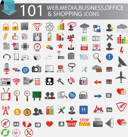 101 web icons Stock Vector - 13671691