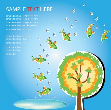 safe world: Safe world ,Fish and Green tree ,water