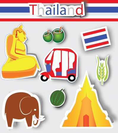 Thailand culture icons,Logo Stock Vector - 13691055