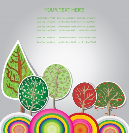 abstract trees background,