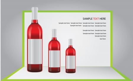 bottle of wine on pop-up paper Stock Vector - 13690901