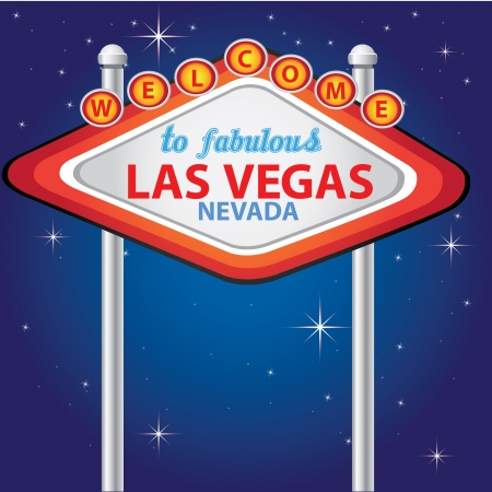 las vegas strip: Welcome to Fabulous Las Vegas ,Vector  Illustration