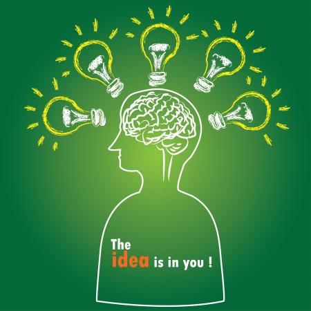 tanulás: Intelligencia, Brain, Vector Illusztráció