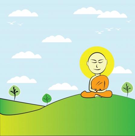 Buddhist Monk ,Vector Stock Vector - 14958559