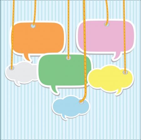 Bubbles talk,Vector Stock Vector - 14958564