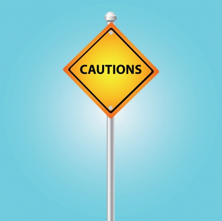 cautions: Cautions sign sky background,Vector  Illustration