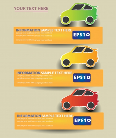 Car cartoon ,Banner,Vector  Vector