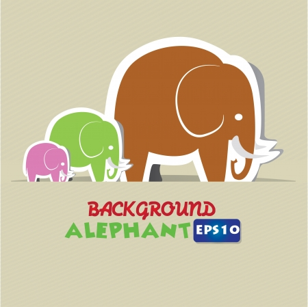 Elephant cartoon,Vector  Stock Vector - 16158036