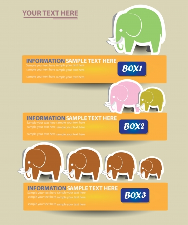 Elephant banner ,background,Vector  Vector