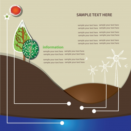 Environment info graphics ,Vector  Vector