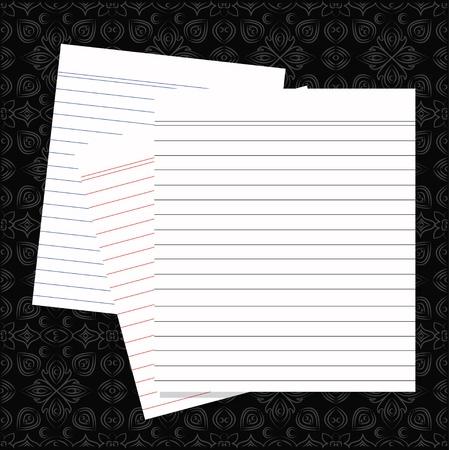 Blank white paper Stock Vector - 16159996