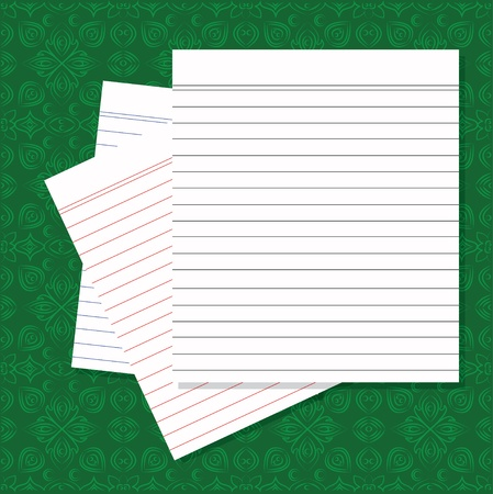 fanned: Blank white paper