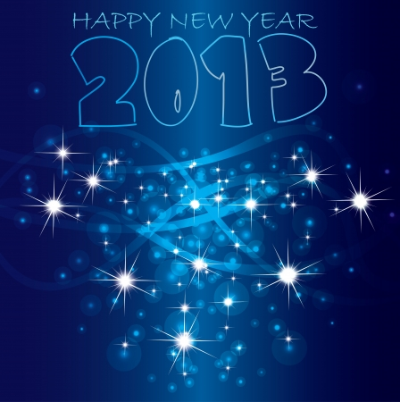 2013 Happy New Year background  Vector Stock Vector - 16160046
