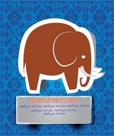 Elephant cartoon,Vector  Vector
