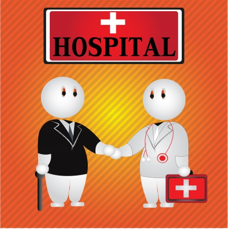 Hospital cartoon,Vector Vector