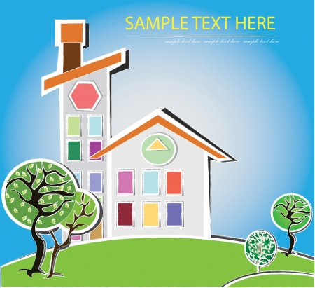 House,cartoon,Vector Stock Vector - 16160075