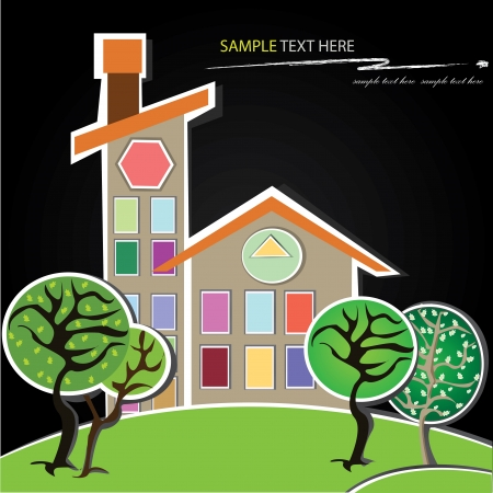 House,cartoon,Vector Vector