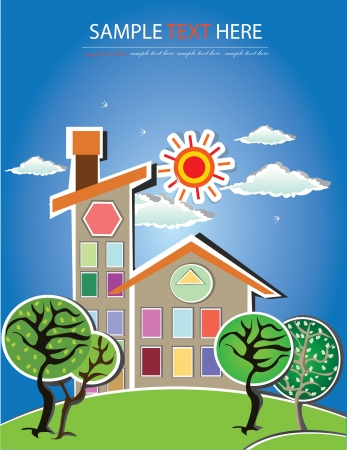 House,cartoon,Vector Illustration