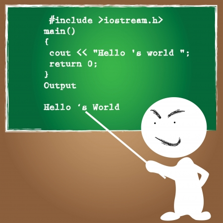 quelle: Quelle-Code-Programmierung, Vektor Illustration