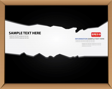 Blank blackboard for text,Vector  Stock Vector - 16173893