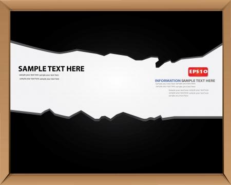 Blank blackboard for text,Vector Stock Vector - 16173893