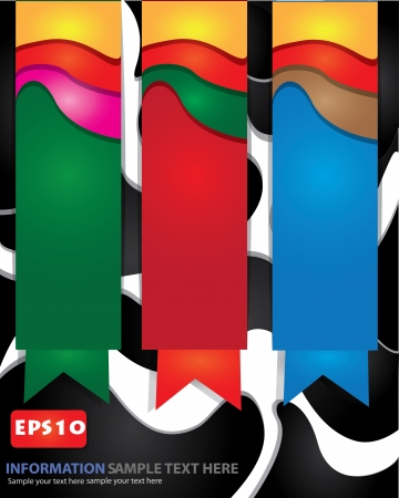 Color wave abstract banners,Vector Stock Vector - 16173905