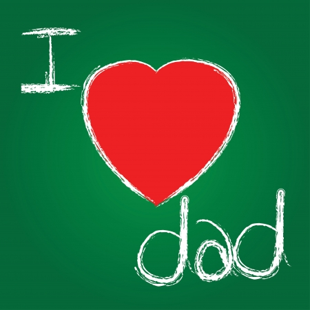 I love dad on blackboard background,Vector Stock Vector - 16173947