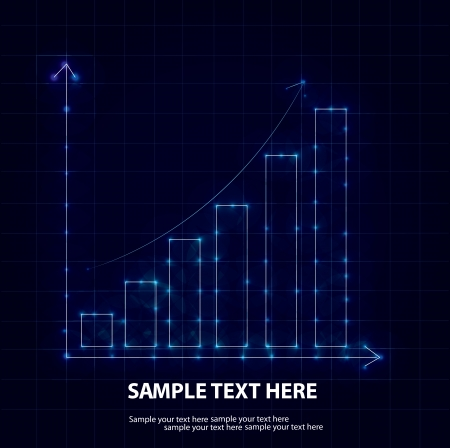 Graph graphic background,Vector Stock Vector - 16174271