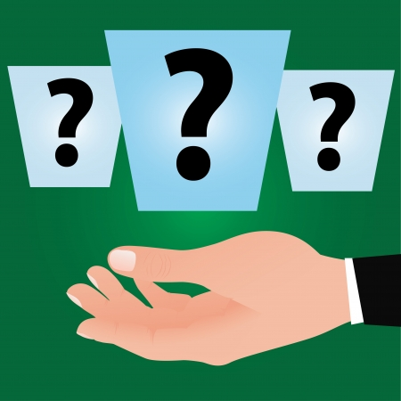 Question mark and hand,Vector Stock Vector - 16173885