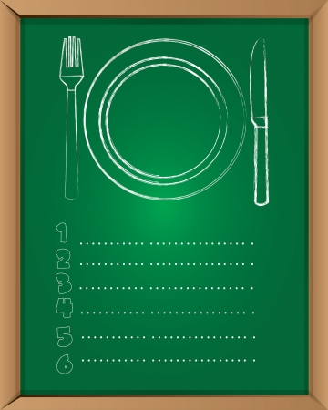 Menu board,Vector  Vector