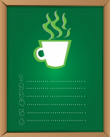 Coffee menu on blackboard background,Vector  Vector