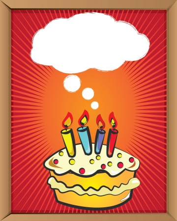 birthday party background: Bubble and cake,Vector