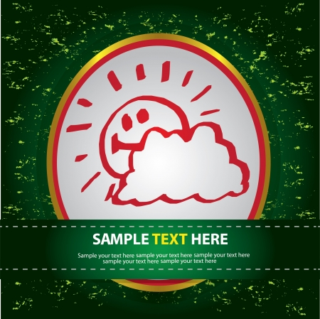 Sun smile and cloud,Vector  Stock Vector - 16174199