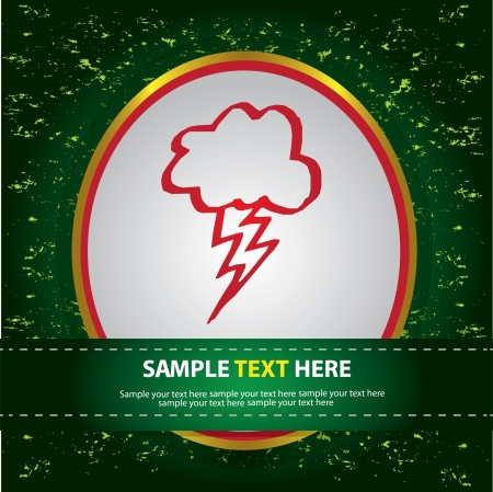 Lightning sign on green abstract background,Vector Stock Vector - 16174192