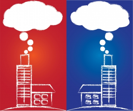 powerplant: Luchtverontreiniging door kolencentrale, Vector