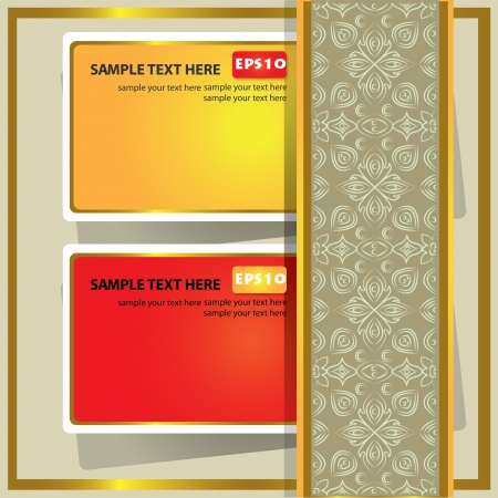 Colorful card and pattern background for text,Vector Stock Vector - 16174019