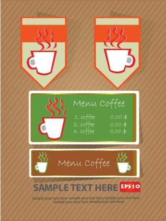 Coffee, banner sign,Vector  Vector
