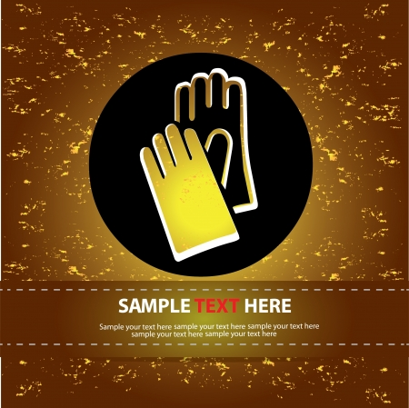 Hand safety sign,Vector  Stock Vector - 16174065