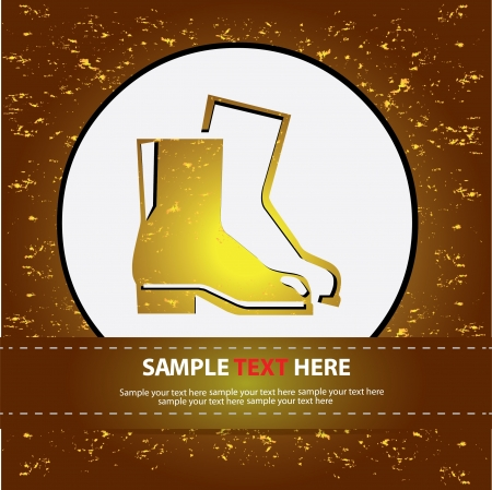 Safety boot on abstract background,Vector  Vector