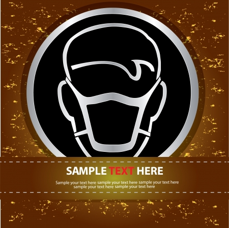army gas mask: Mask safety sign,Vector