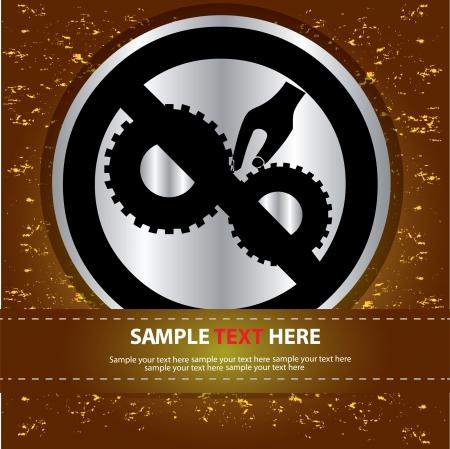 Danger gear sign,Vector Stock Vector - 16174298
