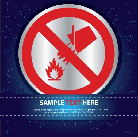 Fire Sign Label ,Vector  Stock Vector - 16174324